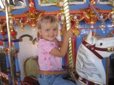Hana on the Carousel