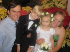 The Brighams at Kati's Wedding